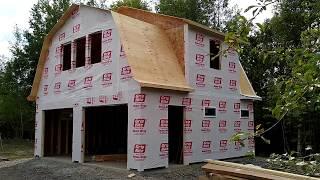 Building a Gambrel Garage stage 2