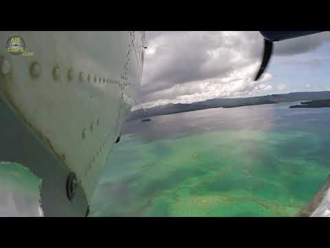 Beautiful Outboard Camera! Twin Otter Takeoff from Remote Solomons Island! [AirClips]