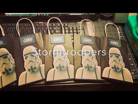 STAR WARS PARTY FAVOR BAGS  DIY  Curvey Crafts Nyc