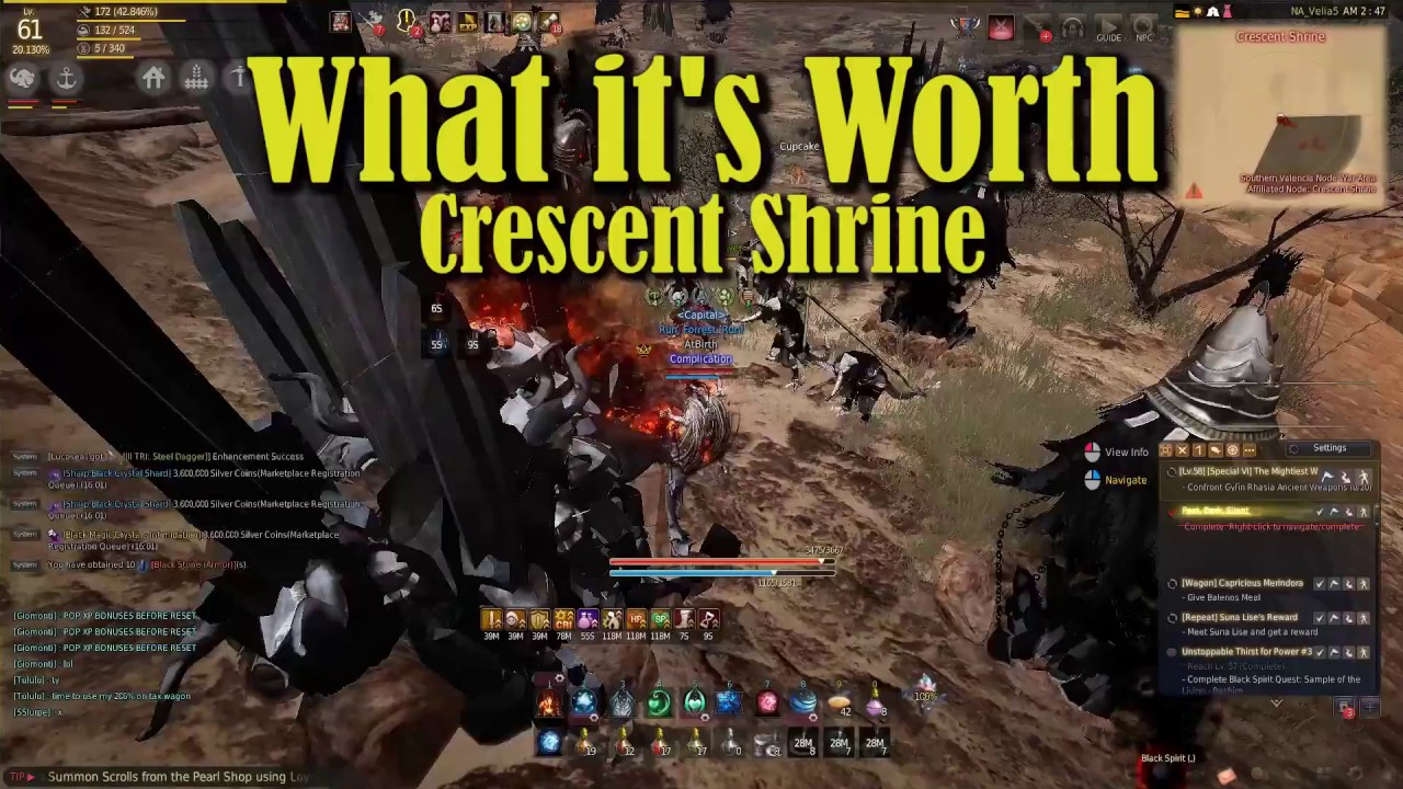 23 Million Silver Per Hour - Crescent Shrine w/19 5% Extra loot - What its  Worth