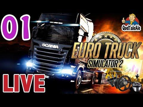 Euro Truck Simulator 2 - Gameplay ITA - T300 + TH8A - LIVE#01 - Dalla Calabria alla Svezia