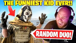 THE FUNNIEST KID IN WARZONE! RANDOM DUOS!