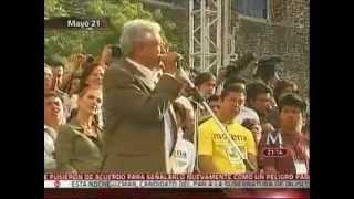 Editan discurso de AMLO en Tlatelolco INDIGNANTE