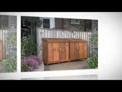 Bins For Recycling In Style | Toronto Stylish Storage Sheds | 416 849 2467    YouTube