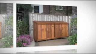 Bins For Recycling In Style | Toronto Stylish Storage Sheds | 416-849-2467