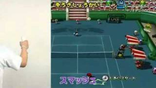 Mario Power Tennis - New Play Control Series - Japanese Gameplay Trailer - Nintendo Wii