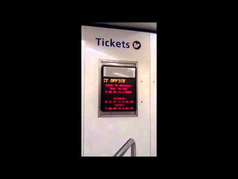 Former CityRail Wynyard Railway Station Ticket Office Hours of Business Electornic Board