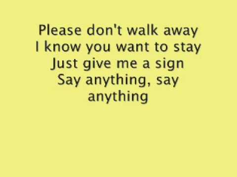 Good Charlotte say anything lyrics