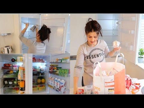نظفت ورتبت الثلاجة قبل رمضان صارت تلمع لمع😍مشترياتي للمواد الغذائية - Nour TV