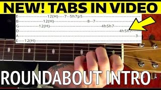 Roundabout Intro - Yes - Guitar Lesson WITH TABS