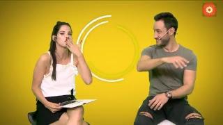 Cande Molfese en una charla íntima con Luciano Pereyra
