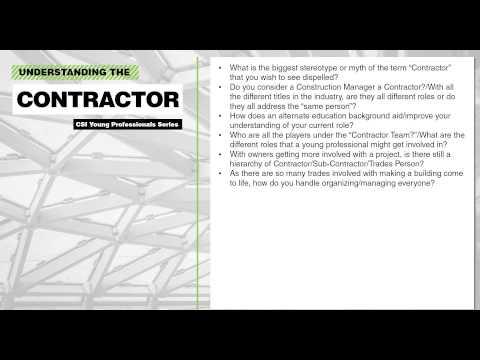 Understanding the Contractor/Sub-contractor