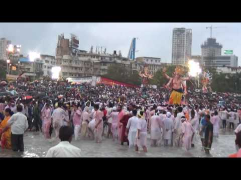 Ganesh Galli Visarjan at Chowpatty, 2016