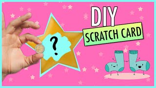 How to make DIY LOTTERY Scratch Off Card | Easy Gift Tutorial