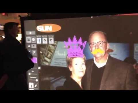 Virtual Graffiti Wall Photo Booth Rental - Corporate Party
