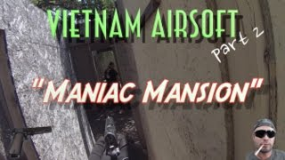 Vietnam Airsoft part 2 / Maniac Mansion/ G&P Stoner/1911 Gameplay