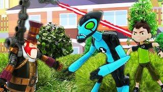 Видео для детей про игрушки из мультфильмов Бен Тен: авария поезда