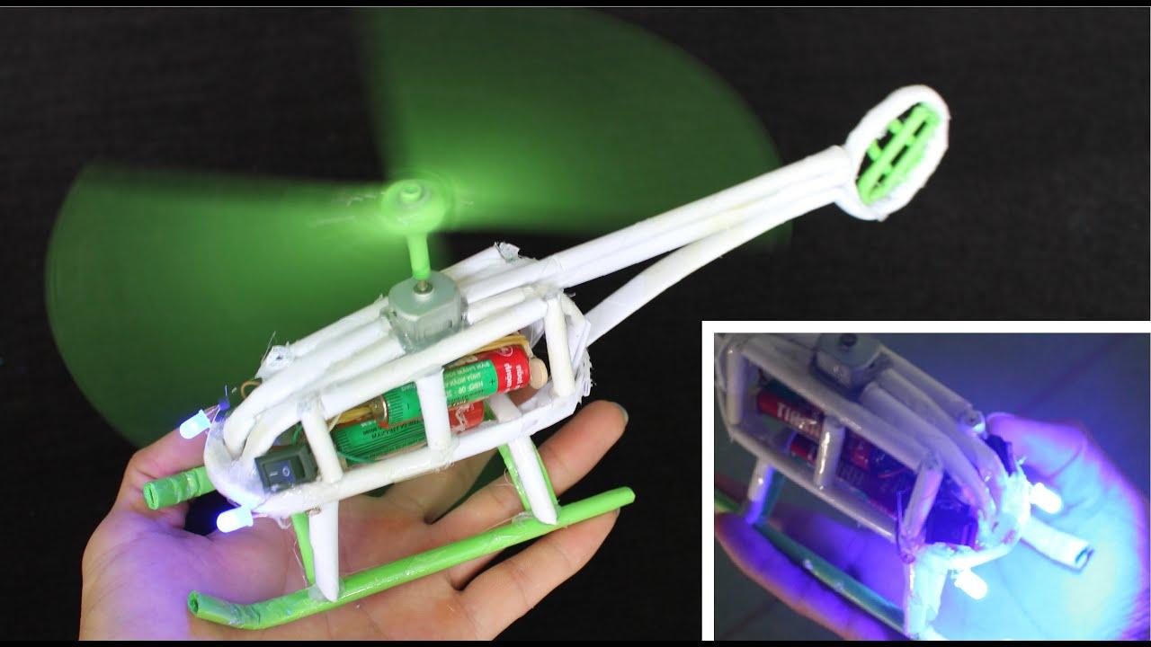 Cara membuat helikopter kertas  helikopter listrik  YouTube