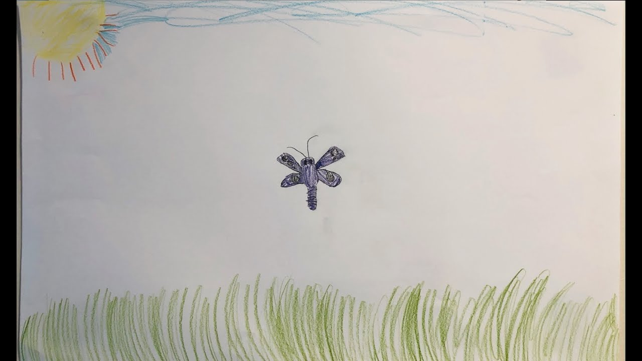 Art with Aurelia- Aurelia draws a butterfly