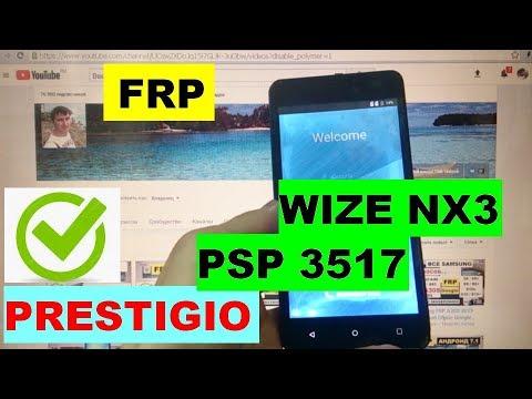 FRP Prestigio Wize NX3 PSP 3517 Сброс Google аккаунта
