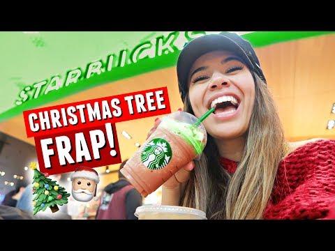 Trying the New STARBUCKS CHRISTMAS TREE Frappuccino! | Vlogmas Day 9