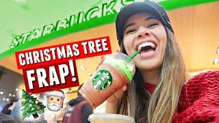 Trying the New STARBUCKS CHRISTMAS TREE Frappuccino! | Vlogmas Day 9