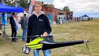 WORLD´S FASTEST RC MODEL HELICOPTER FLIGHT SPEED 319 KMH 198 MPH FLIGHT DEMONSTRATION
