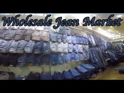 Jeans wholesale market manufacturer in China. Cheapest facto