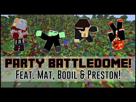 Minecraft: Battledome 4v4 w/Friends! - THE PARTY DOME!!