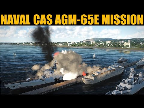 Naval Anti-Ship CAS Mission Using Buddy Lazed AGM-65E | DCS WORLD