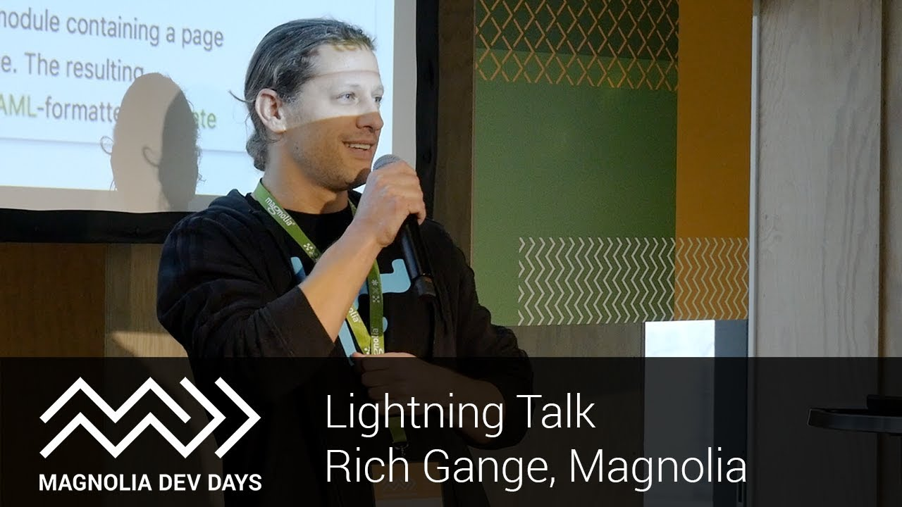 Developer Days 2018 – Rich Gange, Magnolia: Bye-bye Bootstrap