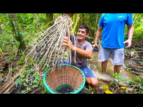 Unseen SUPERFOOD in Amazon Jungle - Real Way to Eat AÇAÍ (You'll Be Surprised) in Belém, Brazil!