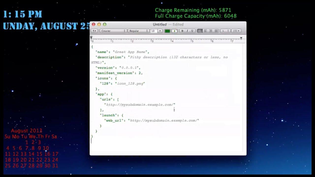How to Make a Chrome Web App