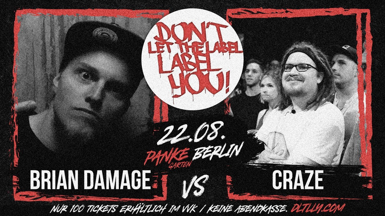 Brian Damage vs Craze // DLTLLY RapBattle (Panke // Berlin) // 2020