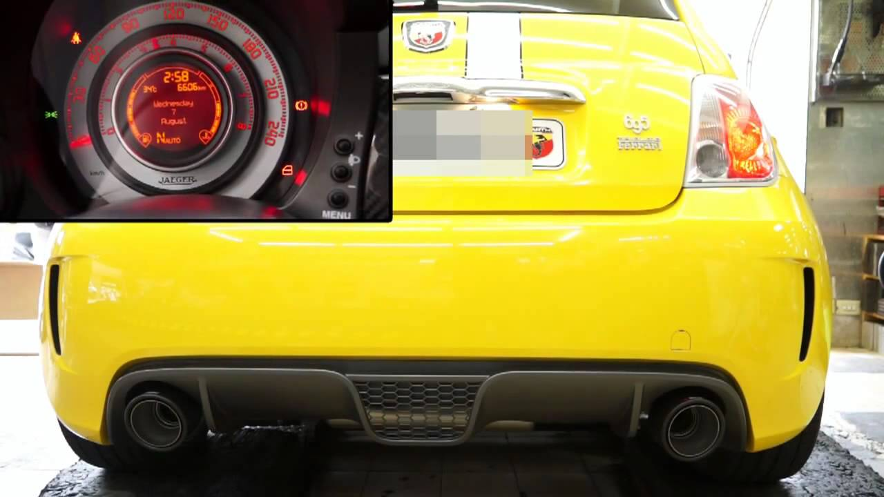 004 Akrapovic Slip on Abarth 500 500 C695HD - YouTube