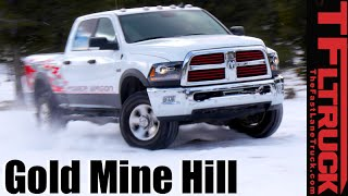 2016 Ram Power Wagon takes on a Snowy Gold Mine Hill Review in 4K