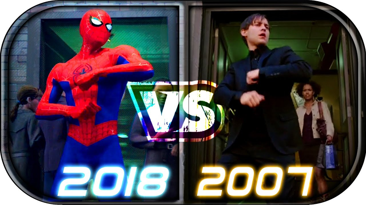 Spider Man Into The Spider Verse Scenes Compared To Spider Man Trilogy 2002 2004 2007 2018 Vs 2019 Youtube