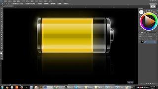 ლ ((●'ω`●)八(*●'ω`●*))♪ 【Photoshop CS6】 示範078 電池icon繪製 (中文破解)