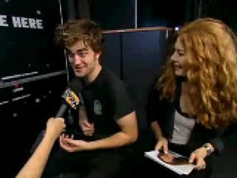 Robert Pattinson and Rachelle Lefevre  with MuchMusic