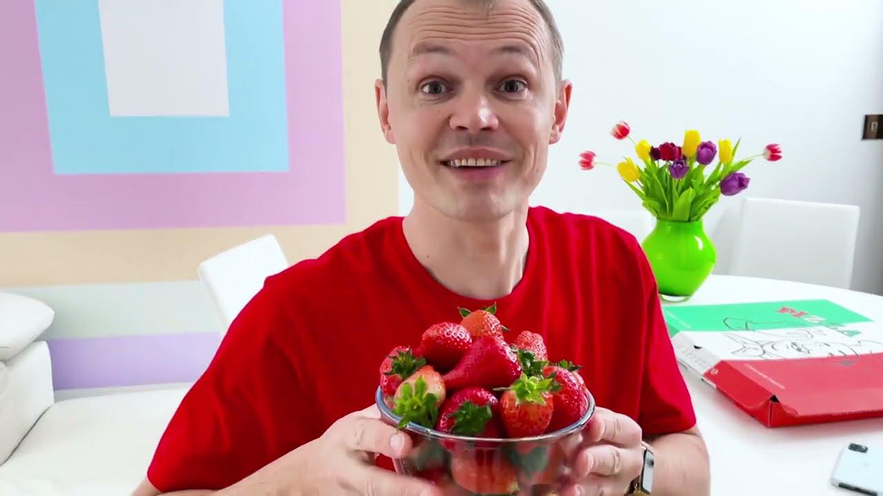 Катя и Макс устроили Пицца Челлендж для папы