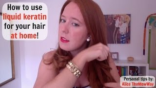 Liquid keratin: how to use it at home! (Tips and tricks!)