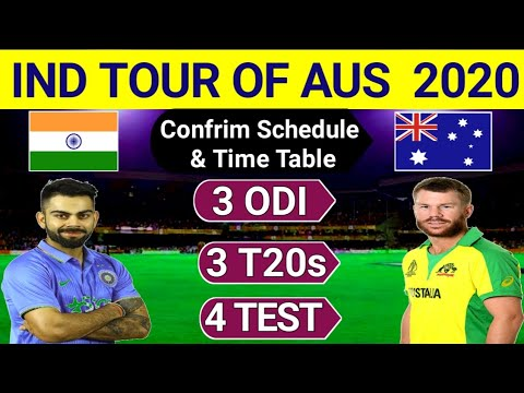 India Tour Of Australia 2020 | Ind Vs Aus Series 2020 Confirm Schedule & Time Table