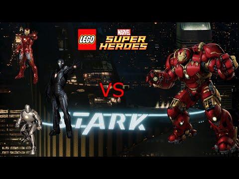 Army of Iron Men vs Hulkbuster! | Lego Marvel Super Heroes part 6
