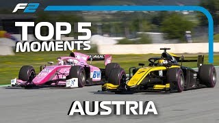 Top 5 Formula 2 Moments | 2019 Austrian Grand Prix