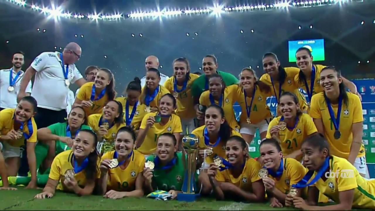 ca60d0b2a4118 Seleção Brasileira Feminina conquista o Torneio Internacional de Manaus -  YouTube