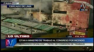 Incendio en Las Malvinas: ministro de Trabajo es citado al Congreso