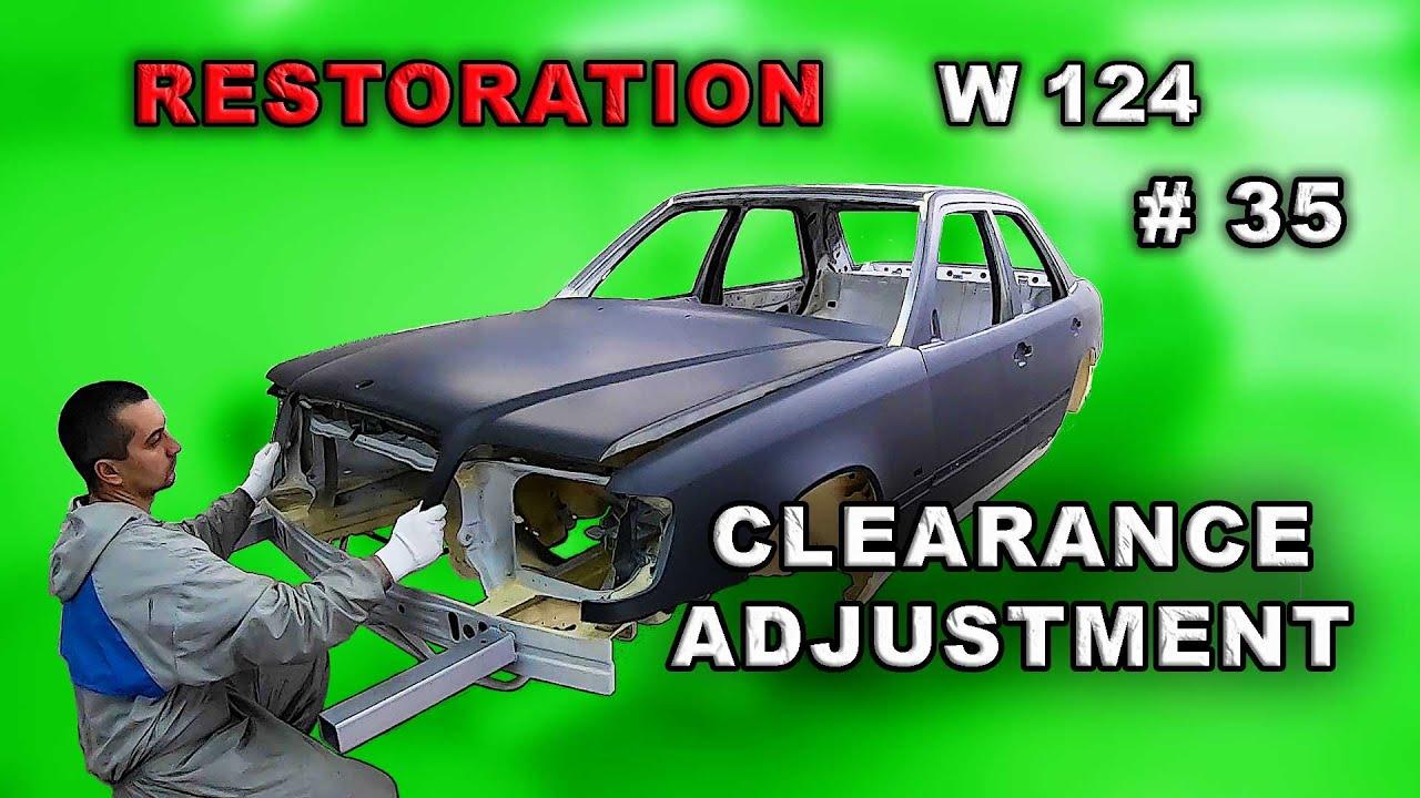 Реставрация Mercedes-Benz (#35) Контрольная сборка. Как выставить зазоры. Restoration car