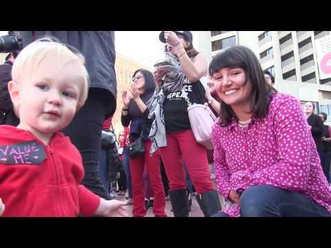 International Woman Day - Justin Herman Plaza - immigration 3 8 2017