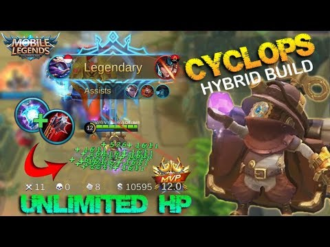 This Build Will Give You Unlimited HP!!! Cyclops Hybrid Build: Crazy Lifesteal - Mobile Legends