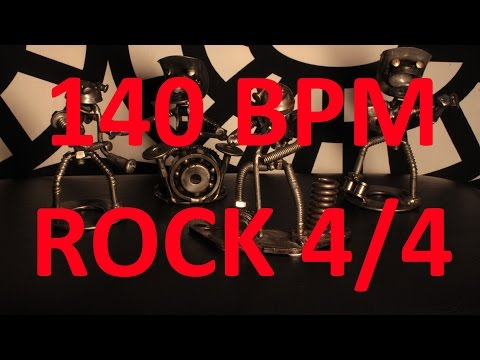 140 BPM - ROCK - 4/4 Drum Track - Metronome - Drum Beat